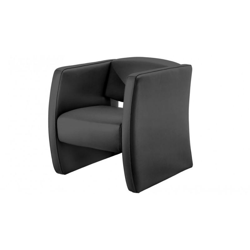 Audria fauteuil cuir design canap cuir luxesofa - Fauteuil club cuir gris ...
