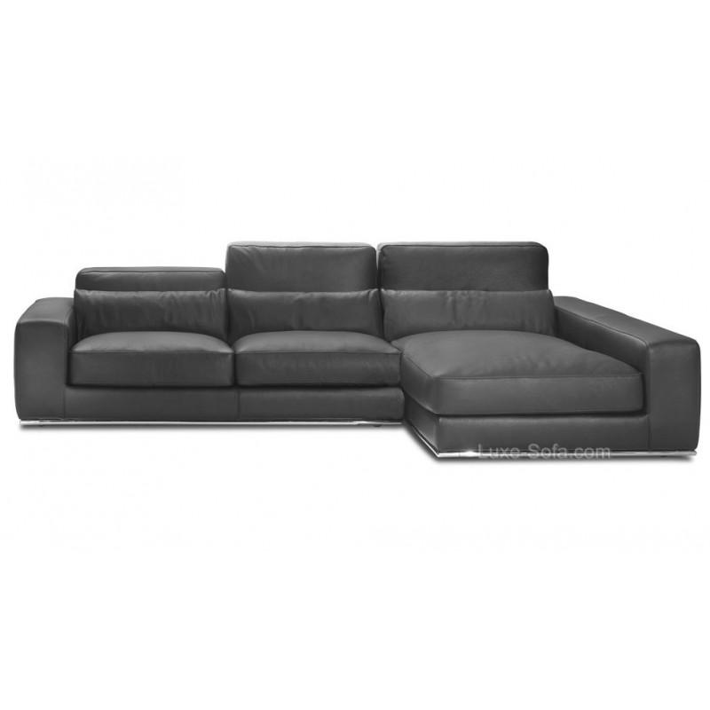 canap d 39 angle de luxe salon d 39 angle 100 cuir haut de gamme matisse On canape luxe solde