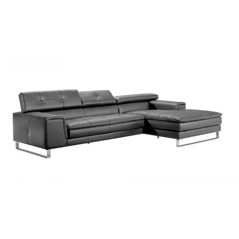 canap d 39 angle chaise longue en cuir haut de gamme italien. Black Bedroom Furniture Sets. Home Design Ideas