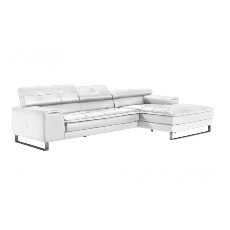 Canap d 39 angle chaise longue en cuir haut de gamme italien - Canape cuir italien haut gamme ...