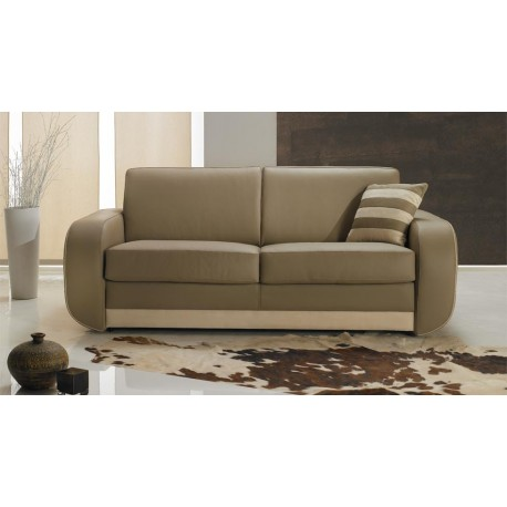 canap lit rapido cuir beige convertible syst me rapido. Black Bedroom Furniture Sets. Home Design Ideas