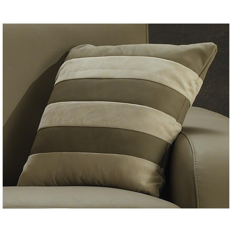 Canap lit rapido cuir beige convertible syst me rapido for Canape lit cuir