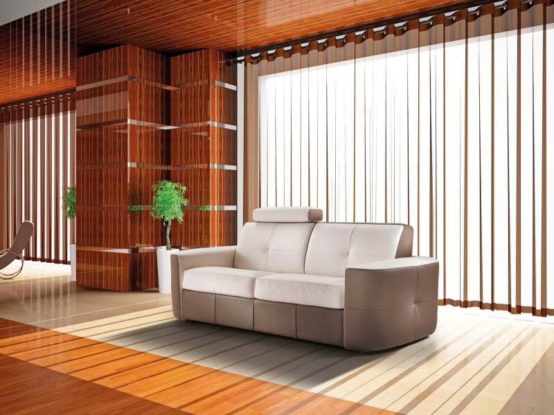 canap cuir capitonn bicolore 30 direct usine verysofa. Black Bedroom Furniture Sets. Home Design Ideas