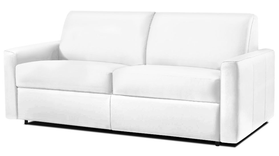 Canap fixe en cuir de vachette dream verysofa promo for Canape deux places convertibles