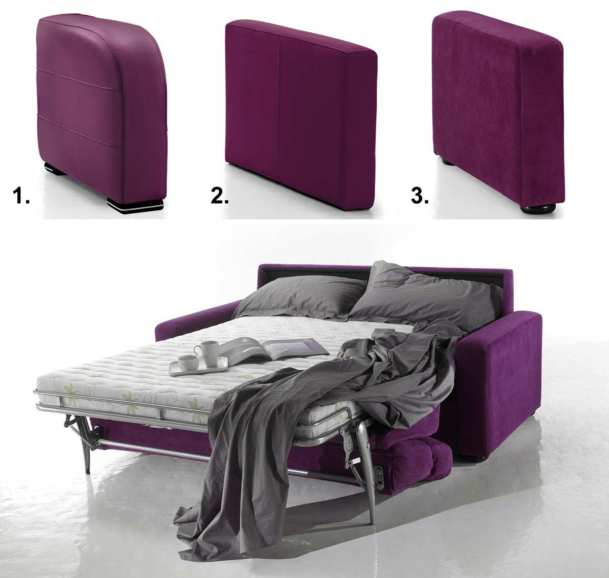 canap lit ouverture assist e styling microfibre haut de gamme. Black Bedroom Furniture Sets. Home Design Ideas
