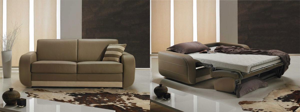 Canap lit rapido cuir beige convertible rapido pas cher 25 - Canape lit usage quotidien ...