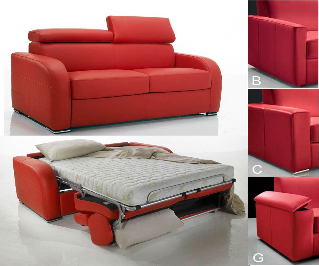 canap lit rapido tissu avec appuis t te ajustables dream. Black Bedroom Furniture Sets. Home Design Ideas