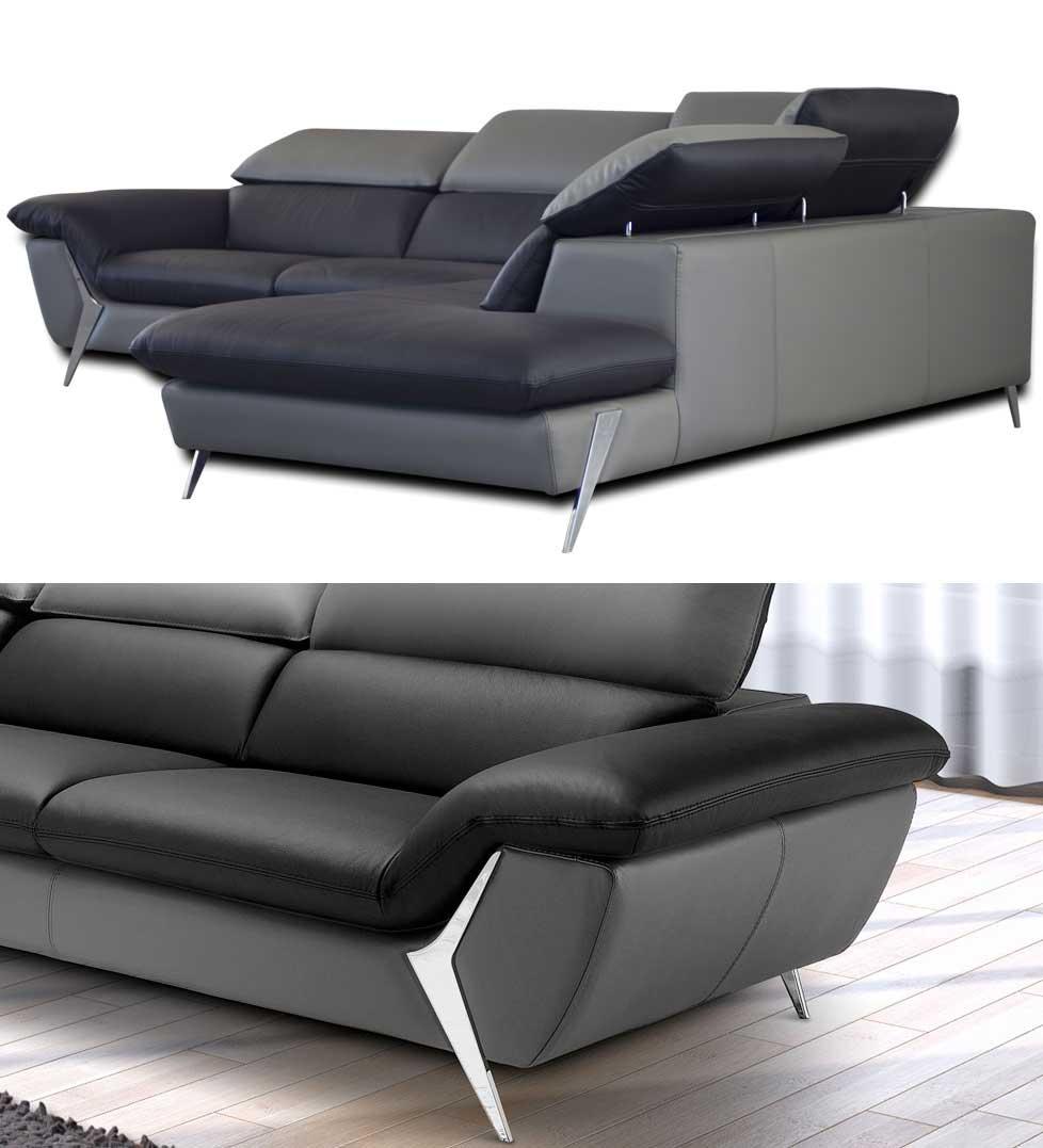 Canap d 39 angle grande m ridienne 6 places cuir haut de - Salon cuir haut de gamme ...