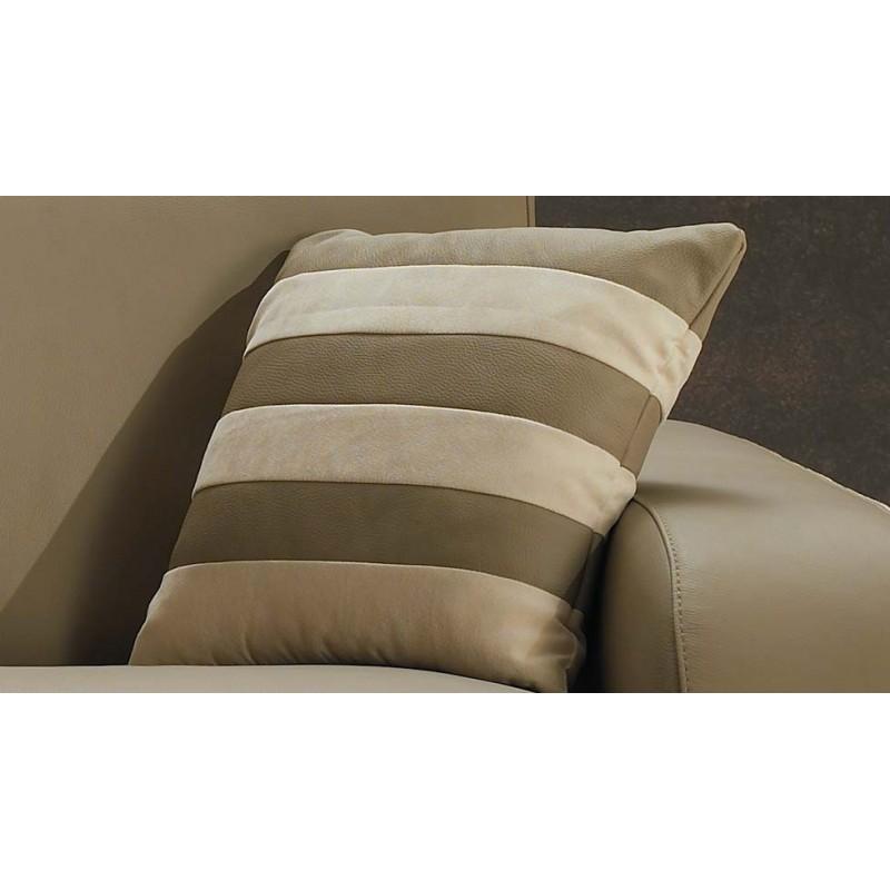 canap fixe cuir beige haut de gamme italien pas cher. Black Bedroom Furniture Sets. Home Design Ideas