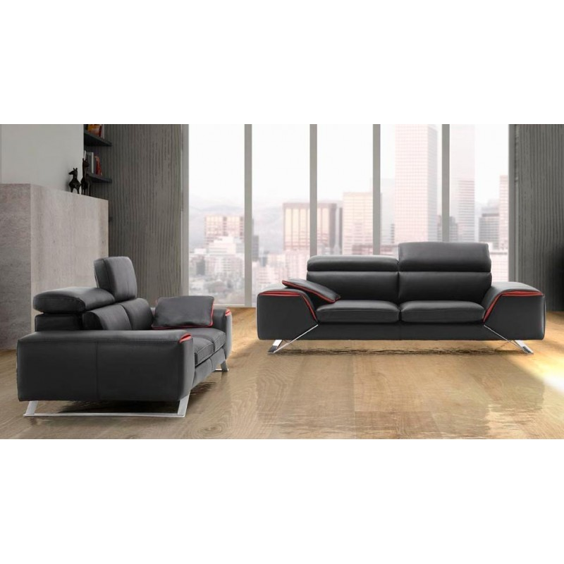Canap design italien en cuir verysofa direct usine 25 for Canape cuir italien