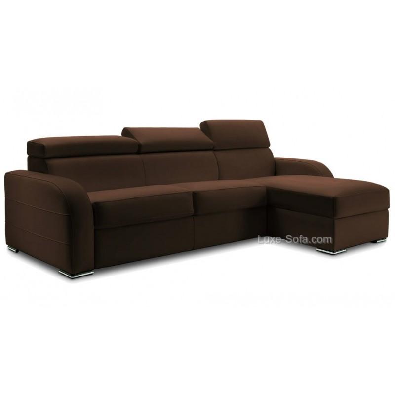 canap d 39 angle r versible et convertible lit 160 cm promo. Black Bedroom Furniture Sets. Home Design Ideas