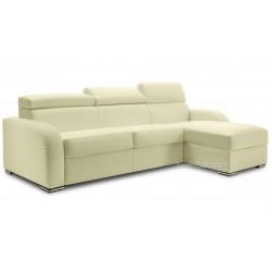 Canapé d'angle convertible réversible avec appuis têtes ajustables tissu