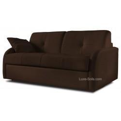 Canapé convertible rapido cuir blanc marron
