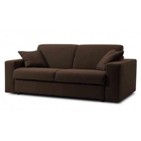 Canapé lit microfibre marron