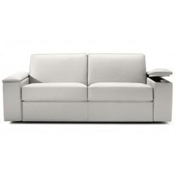 Canapé cuir avec rangement accoudoirs