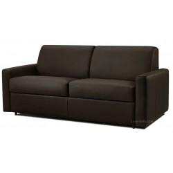 Canapé convertible en cuir noir