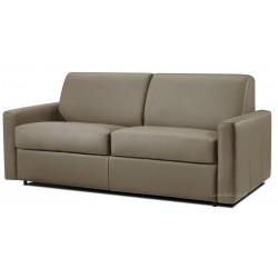 Canapé fixe 2 places et 3 places en cuir marron
