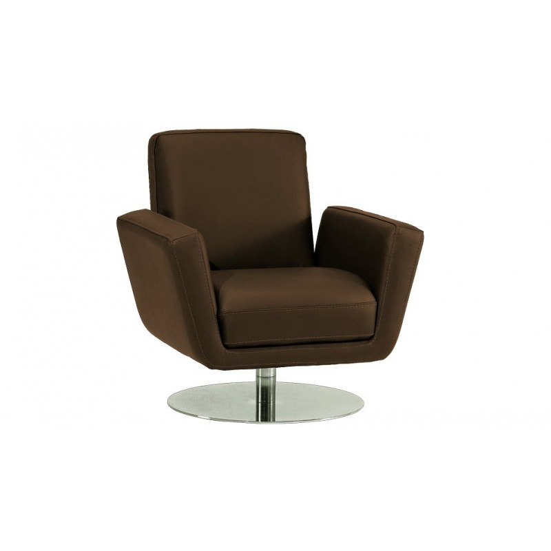 Diva Fauteuil Cuir Design Canapé Cuir Luxesofa - Fauteuil cuir marron design