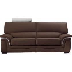 Canapé cuir bicolore noir et blanc