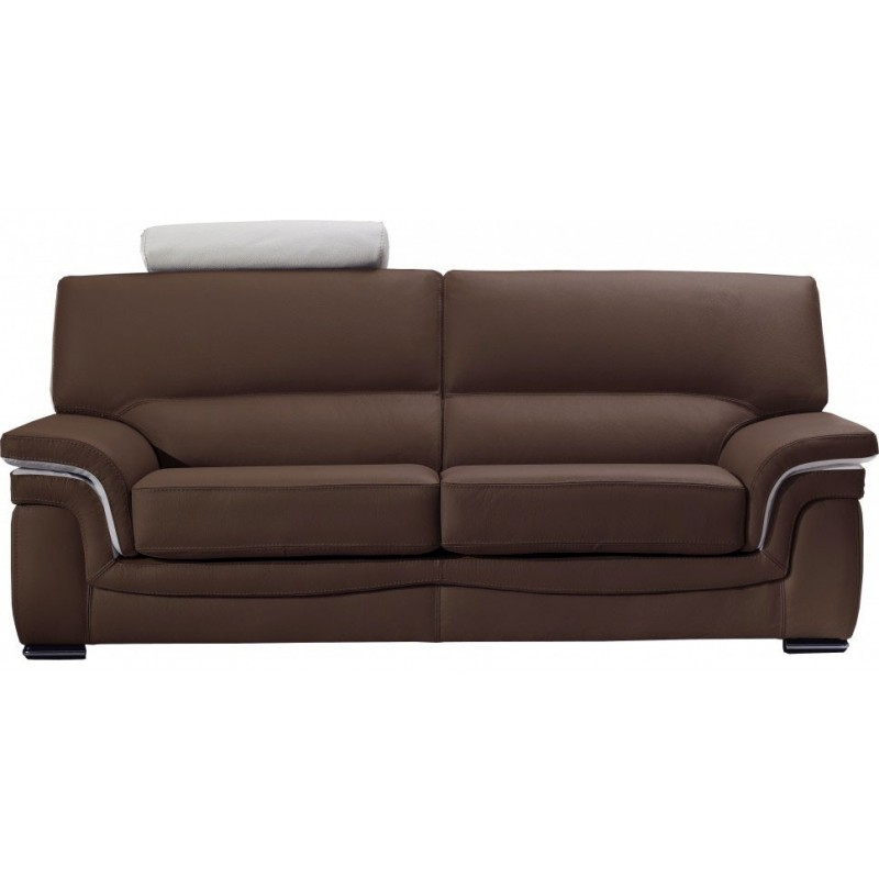 canap cuir classique avec soufflets 100 fait en italie. Black Bedroom Furniture Sets. Home Design Ideas