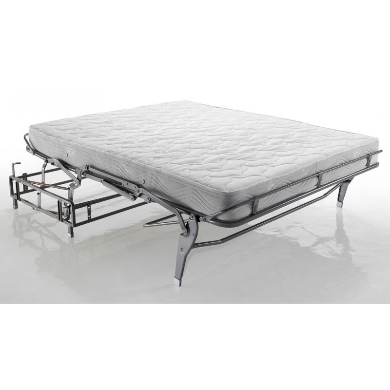 canap cuir convertible journalier lampolet avec matelas 18 cm. Black Bedroom Furniture Sets. Home Design Ideas