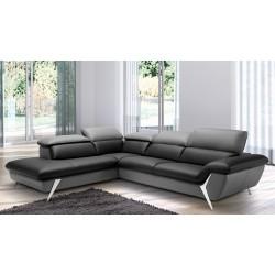 Canapé d'angle grande méridienne 6 places cuir haut de gamme