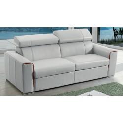 Canapé-lit en cuir matelas 18 cm