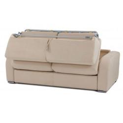 Canapé convertible rapido microfibre blanc cassé