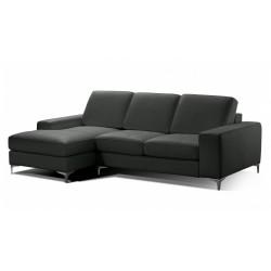 Petit canapé d'angle en cuir
