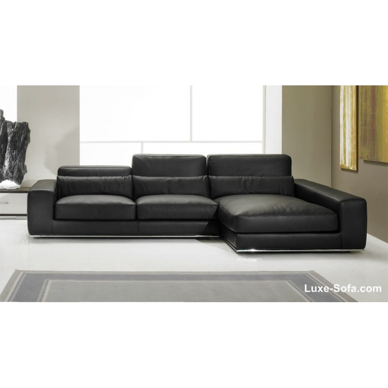 canap d 39 angle de luxe en cuir de vachette matisse verysofa. Black Bedroom Furniture Sets. Home Design Ideas