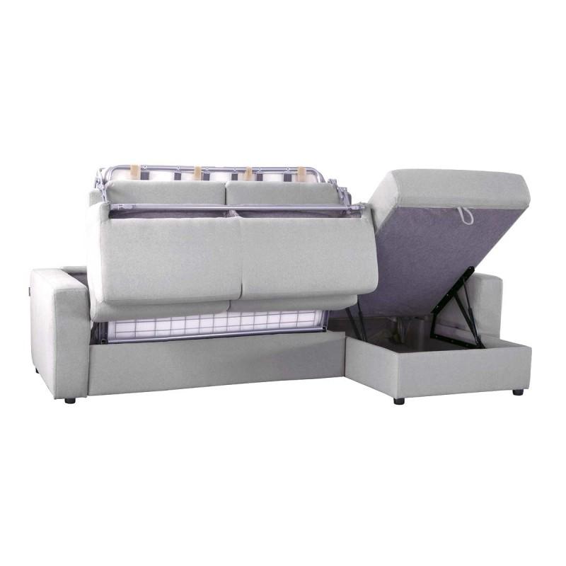 Canap lit d 39 angle r versible microfibre ouverture for Canape angle lit