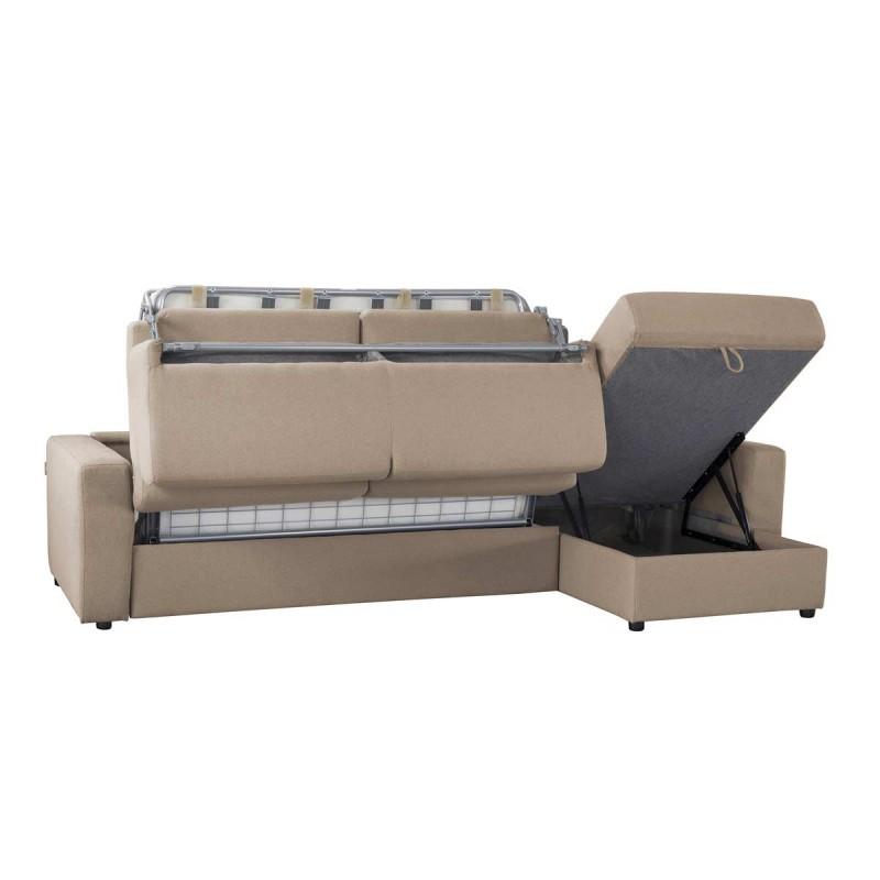 Canap d 39 angle convertible r versible en tissu coton pas for Canape tissu