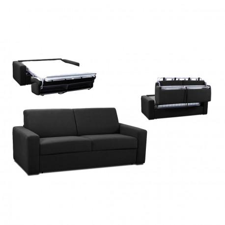 Canapé rapido tissu noir