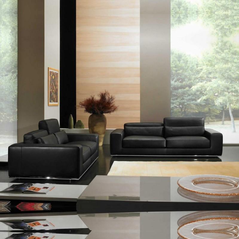 Salon 5 places haut de gamme 100 cuir canap s 3 places et - Salon cuir haut de gamme ...