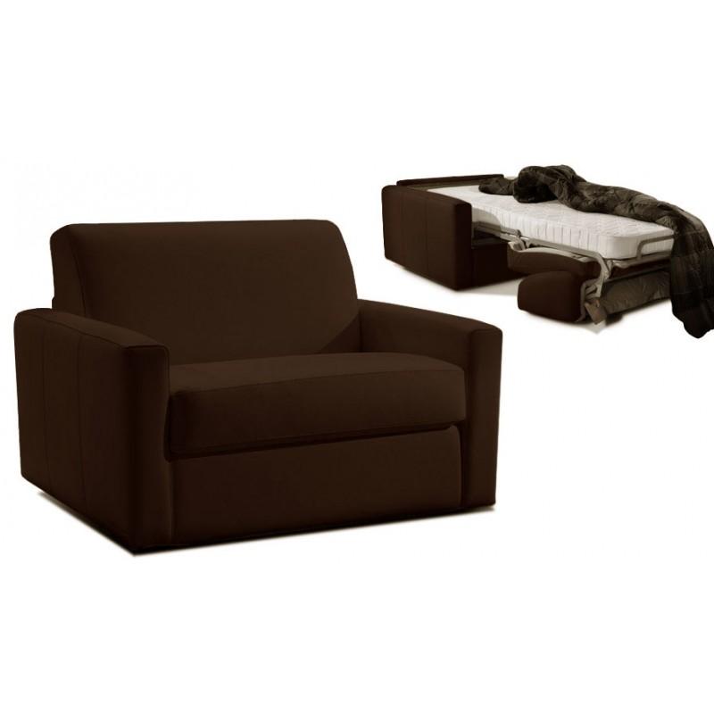 fauteuil convertible 1 place cuir dream par verysofa promo. Black Bedroom Furniture Sets. Home Design Ideas