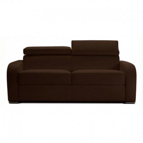 Canapé lit convertible couchage quotidien marron