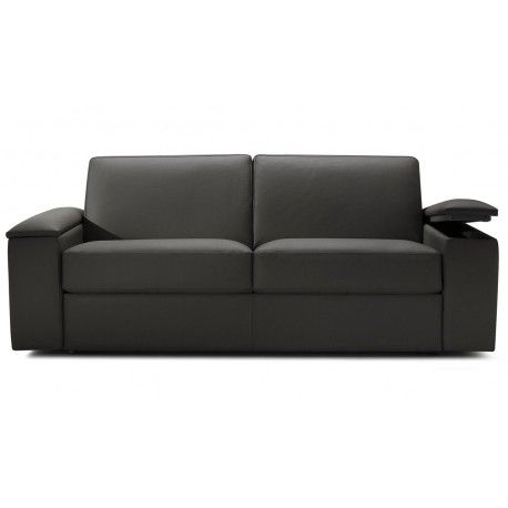 Canapé lit express cuir avec rangement accoudoir [Direct Italie]
