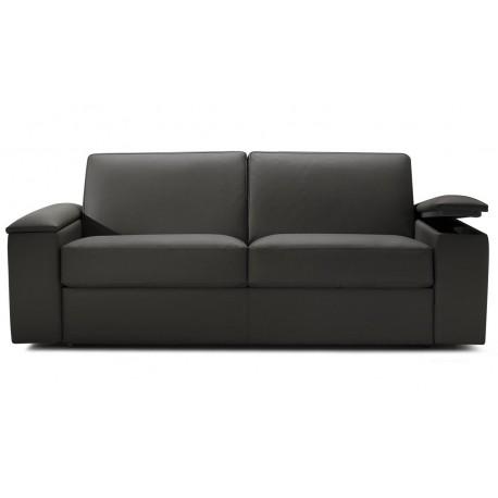canap lit express cuir avec rangement accoudoir direct italie. Black Bedroom Furniture Sets. Home Design Ideas