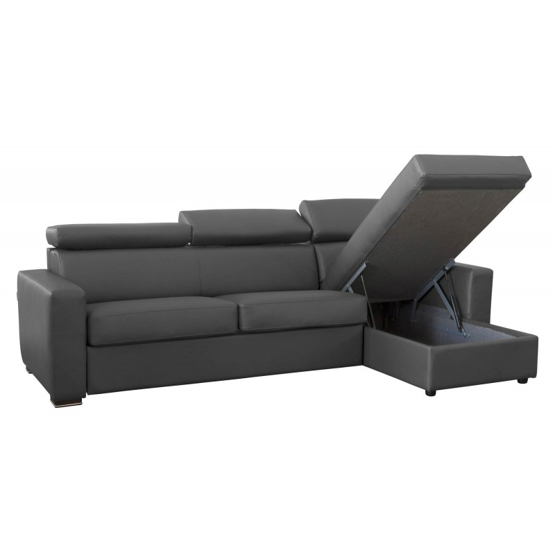 canap d 39 angle convertible et r versible en cuir meilleur prix. Black Bedroom Furniture Sets. Home Design Ideas