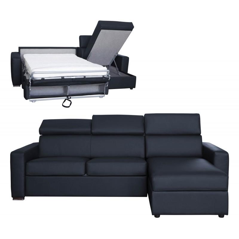 canap d 39 angle convertible et r versible en cuir meilleur prix. Black Bedroom Furniture Sets. Home Design Ideas