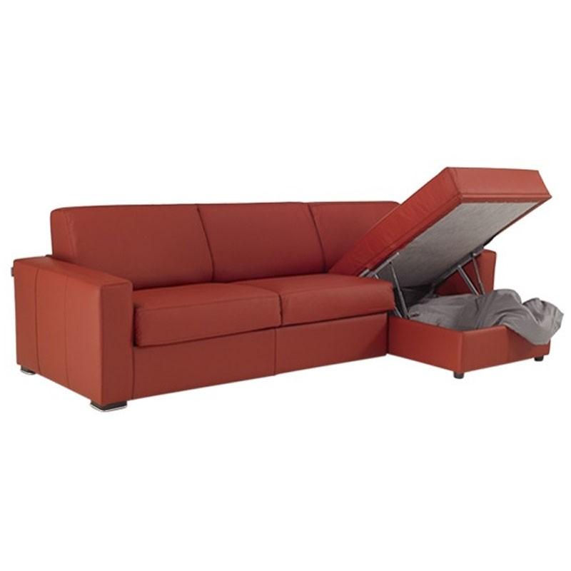 Canap lit d 39 angle r versible en cuir meilleur prix - Canape lit d angle ...