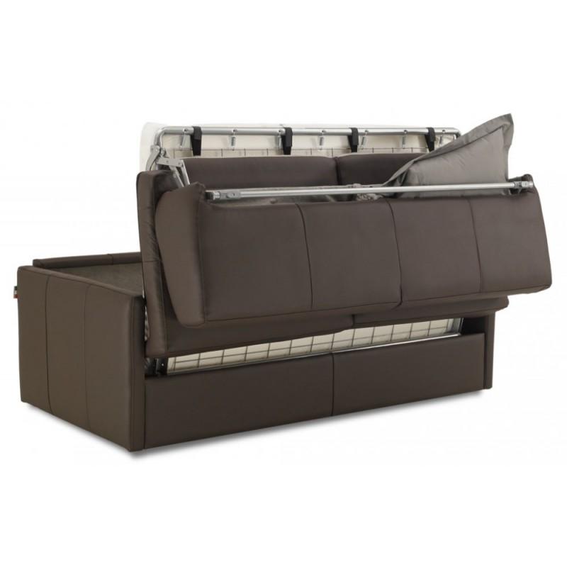 canap lit cuir ouverture express accoudoirs fins nouveau 2017. Black Bedroom Furniture Sets. Home Design Ideas