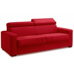 Canapé convertible microfibre rouge 2 places et 3 places