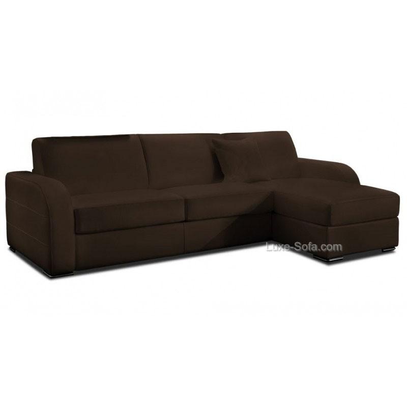 petit canap d 39 angle en cuir avec coffre de rangement. Black Bedroom Furniture Sets. Home Design Ideas