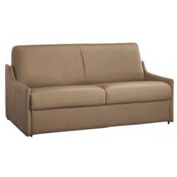Canapé lit compact gain de place en cuir ouverture express