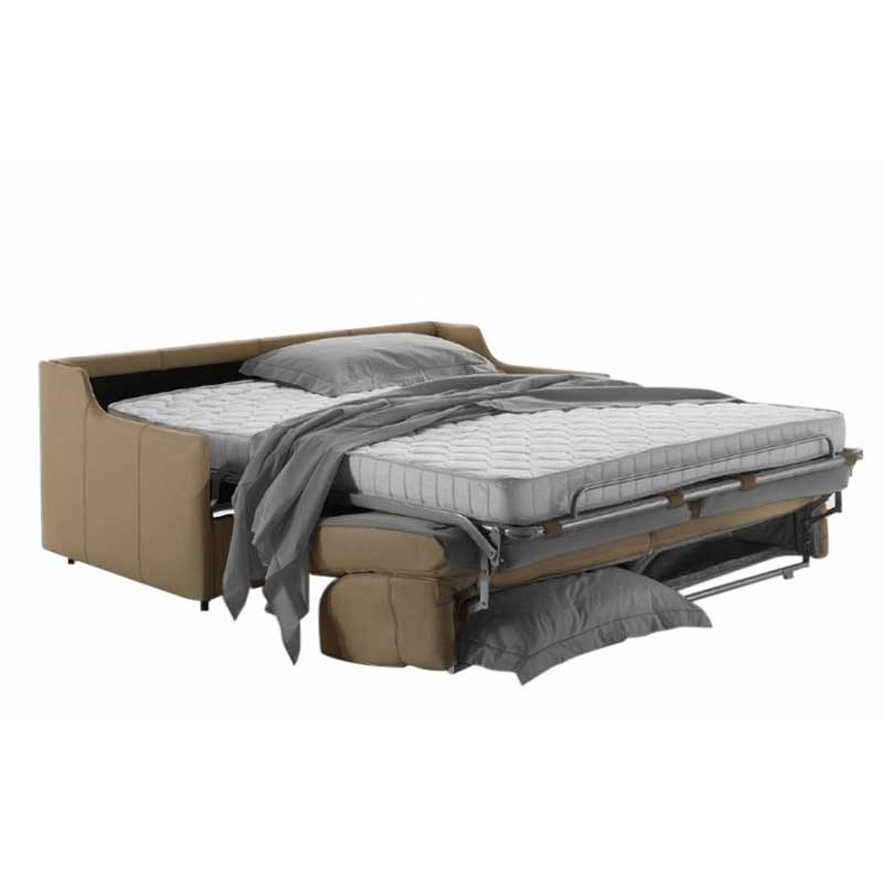 canap lit gain de place en cuir de vachette nouveau. Black Bedroom Furniture Sets. Home Design Ideas