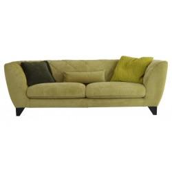 Canapé en tissu vert déhoussable haut de gamme