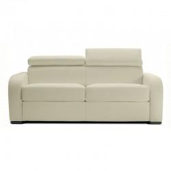 Canapé lit convertible microfibre gris clair