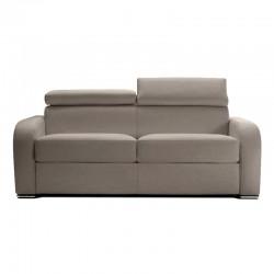 Canapé lit en cuir avec appuis tête ajustables