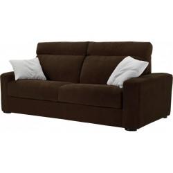 Canapé lit à ouverture assistée Styling microfibre prune